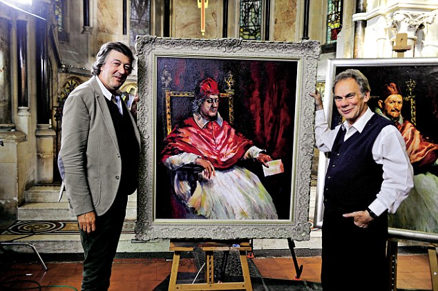 Fame In The Frame on Sky Arts- Stephen Fry & John Myatt.